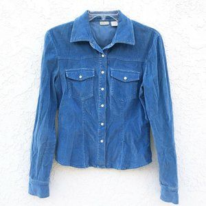 Nordstrom Rubbish Pearl Snap Stretch Corduroy Top